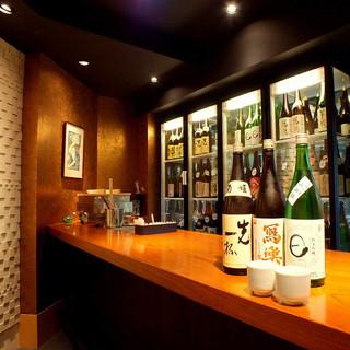 店長厳選日本酒を常時30種以上ご用意季節限定酒もございます