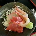 61407209 - キキン煮付けと刺身付定食:1,500円