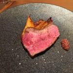 イタリアン アンド ワイン チャコール - 北海道産若牛の炭火焼き