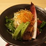 炭火ステーキ坂井 京都三条 - たっぷり野菜サラダ