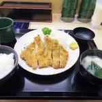 下町食堂中村橋 - ロースカツ定食 590円
