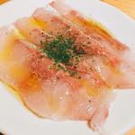コポリ - カルパッチョ(魚の種類失念・・・)