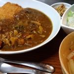 プラスアルファキッチン - ガッツリ、チキンカツカレー(ランチ)