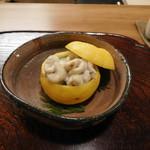 61425562 - タラの白子のせの蒸寿司