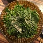 酒坊主 - 2017.01.18 豆苗とルッコラのサラダ