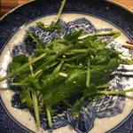 酒坊主 - 2017.01.18 豆苗とルッコラのサラダの白いツブツブ