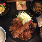 えごま - ミックスフライ定食 ¥1500+税
