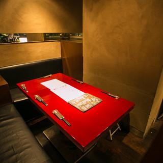 プライベート感ある個室席
