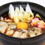 肉鍋うどん 楽 - 料理写真:絶品!能登かきの味噌鍋うどん