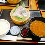まるさ水産 - 選べる刺身三種盛り定食    ¥1080