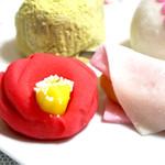 和菓子処 菊家 - 太神楽椿¥450