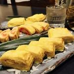 くし処かぐら大橋店 - ノーマル、明太子、チーズ選べるだし巻き卵です
