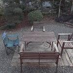 カフェ ド サファリ - お昼時の暖かい時間など、お庭でも飲食できるのが○