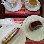 カフェ・ド・クリエ - ダブルクリームエクレア/チョコレートロール/カフェラテ/Espresso