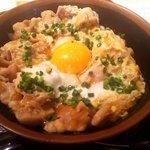 焼き鳥ゑびす - 桜卵の親子丼(アップ)