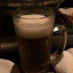 焼き鳥と燻製の居酒屋 あじどり - ビール!?泡がすぐに消えちゃう・・
