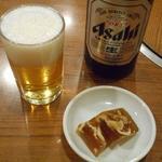 とゝや - ビール中瓶(スーパードライ)670円