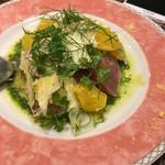 イカリヤ食堂 - カツオのカルパッチョ