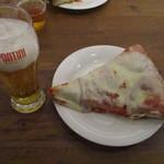 PIZZERIA SPONTINI - ビールとマルゲリータ