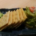ぬる燗佐藤 横濱茶寮 - 海老と焼きアボカドのディップ。