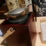 ぬる燗佐藤 横濱茶寮 - こちらもぬる燗、石川の純米酒、五凛(ごりん)。
