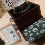 ぬる燗佐藤 横濱茶寮 - ぬる燗でお勧めされた、岐阜の純米酒、醴泉(れいせん)。
