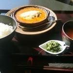 村民食堂 - 成熟味噌の味噌仕込みハンバーグ定食