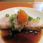 高鮨 - 肝付きのノドグロ(ポン酢)。