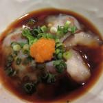 高鮨 - ナマコ(ポン酢)。