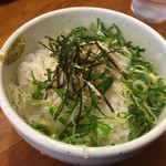 麺屋 一徳 - 〆めし〜(´∀.`)/¥180円