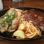街のハンバーグ屋さん - 本日のA定食(680円)