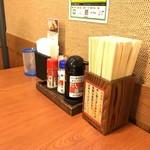 香の川製麺 - 卓上