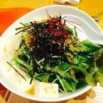 おーくら亭 - 豆腐とカリカリじゃこと水菜の和風サラダ