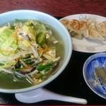あか堀食堂 - サッパー 650円 焼餃子 350円