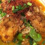 鶏そば・ラーメン Tonari - 牡蛎パーコー担々麺 牡蛎パーコーアップ(Tonari)2017.1