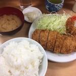 山家 - ロースかつ定食+海老フライ