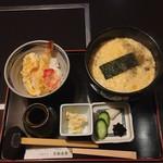 京都 団楽 - 料理写真:天丼セット  ミニ天丼 玉子とじ蕎麦