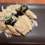 三代目 鳥メロ - 【'16.11月初】蒸し鶏にはジュレ的タレ