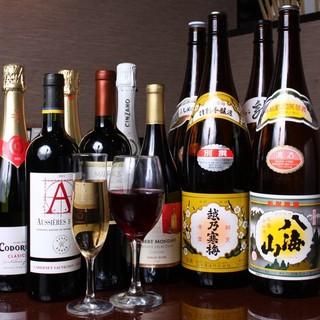 豊富なドリンクや新潟の地酒