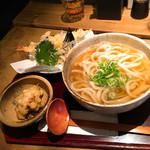 Fukuchan - 天ぷらうどん 麺大盛り とり天トッピング