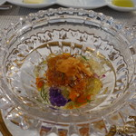 ビストロ ダイア - 毛ガニとうにのリンゴ酢ジュレかけ