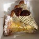 マリオデザート&カフェ - 料理写真:洋梨とチーズのタルト、栗と芋のタルト