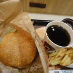 バーガーキング - ワッパー+ポテトM+コーヒーM