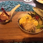 RYORIYA AO - 鴨のポテトサラダと、牡蠣のカダイフ包み