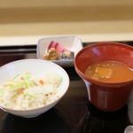 露庵 菊乃井 - 御飯・後吸物・香の物