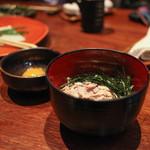 癒宴 - 鰹の生利節 卵かけご飯 ~名古屋コーチンの卵使用~☆