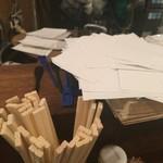 鳥勝 - 注文用のメモ用紙