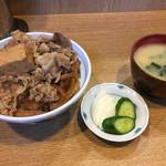 なんどき屋 - 大盛牛めしセット(690円)