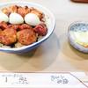 栄一 - 料理写真:焼き鳥丼とお新香