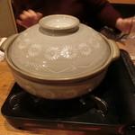 築地日本海 - 鱈ちり白子湯豆腐鍋 着火前